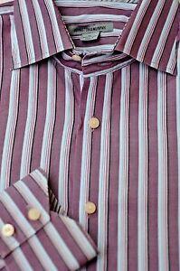 Johnston & Murphy Men's Shades of Gray Stripe Cotton Casual Shirt XL XLarge