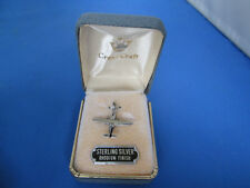 New Vintage Crest Craft Sterling Silver Airplane Plane Charm W/ Gift Box