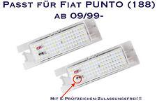 LED SMD Kennzeichenbeleuchtung Fiat PUNTO (188) ab 09/99- (XL)