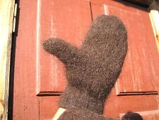 Men's MITTENS PURE SHEEP WOOL 100% natural handknitted RUSTIC style craft