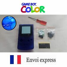 Coque GAME BOY color crystal bleu NEUF NEW + tournevis triwing - étui shell case