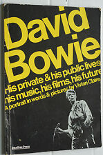 Rare David Bowie Private and Public Lives Paperback Vivian Clare Original Early