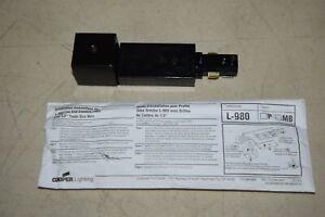 Halo Cooper Lighting L980MB Matte Black Live End Conduit Fitter Track Light