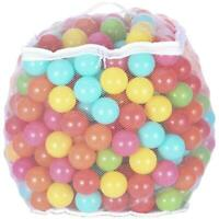 Non-Toxic Pit/Play Balls Crush Proof 6-Colors Durable Storage Bag Zipper 400-ct