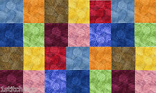 Rainbow Circles 40 4 inch QUILT COTTON FABRIC SQUARE Quilting Charms