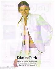 PUBLICITE ADVERTISING 105  2006  EDEN PARK  pret à porte femme
