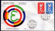 EUROPA CEPT FDC 1958 ITALIE 1