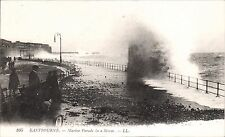 Eastbourne. Marine Parade in a Storm # 105 by LL / Levy. Black & White.