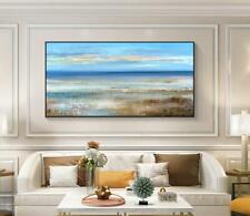 "AA088 Home decor art 100% Hand-painted oil painting Summer seaside Unframed 48"""