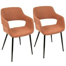 Lumisource Margarite Chair Set of 2, Orange/Black  - CH-MARGBK-O2