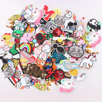 60pcs Random Fashion Patches Embroidered Stickers Lot DIY Iron On Patch Clothing