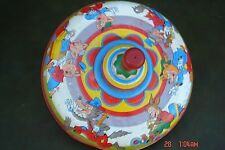 Vintage USA BIG BAD WOLF & 3 LITTLE PIGS Tin Litho Spinning Top Toy