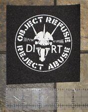 DIRT - DIY Crust Punk Patch Flux of Pink Indians Oi Polloi Aus-rotten D-beat