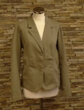 Brandtex Ladies Taupe Cotton Blend Single Breasted Jacket Size 16