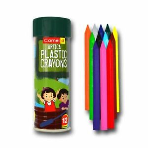 FOR KIDS Camlin 12 Shades Plastic Crayons COLOUR FOR DRAWING| Free Shipping