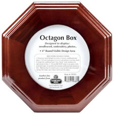 "Sudberry House Mahogany Finish 7"" x 7"" Octagon Display Box - Show area 4"" round"