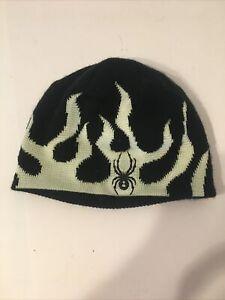 Kid's Spyder Mini Fire Hat Black White One Size 626532