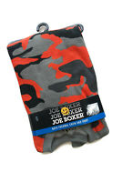 Joe Boxer Thermal Underwear Crew Shirt & Pants Orange Black Camo Boys 8