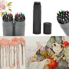 24 Colors Oil Art Pencils Sketching Drawing Artist Adult Non-toxic Coloured