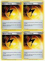 4X SPEED ENERGY REBEL CLASH 173/192 POKEMON SWORD & SHIELD TRAINER CARDS