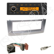 TR7412UB-OR Autoradio + Fiat Grande Punto 1-DIN Blende anthrazit + ISO Adapter