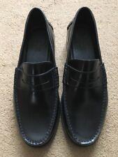 Jones Bootmaker Black Polished Moccasin Loafers Leather Shoe, Size UK9, £99