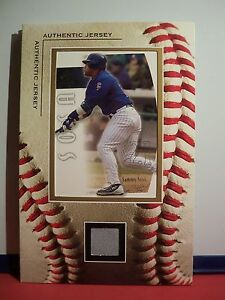 5 x 7 Framed Jersey Piece with Card Sammy Sosa SP Authentic Gray Jersey