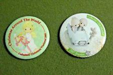 Precious Moments Christmas Collectors' Club Member Lapel Pin Button Lot (2) 2003