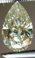 0.88 ct vvs1/-GENUINE OFF WHITE COLOR LOOSE PEAR REAL MOISSANITE 4 Ring/Pendant