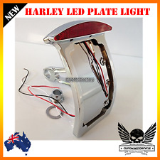 LED curved Verticle license plate tail light Harley softail sportster dyna XL