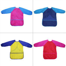 Children Kids Long Sleeve Apron Drawing Painting Waterproof Smock Craft Art Bib