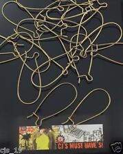 ✤ 30 LARGE KIDNEY EARRING WIRES ✤ 33mm ANTIQUE BRONZE SILVER GOLD BLACK SILVER ✤