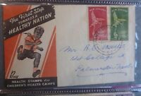 1947 NEW ZEALAND HEALTH SET OF 2 STAMPS FDC FIRST DAY COVER