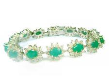 Gioielli di lusso smeraldo oro bianchi Purezza metallo 14 Carati