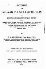 Materials for German Prose Composition by Buchheim, Carl Adolf -Paperback