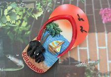 KOH CHANG, Thailand Tourism Souvenir Slipper Shaped 3D Resin Fridge Magnet Craft