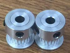 2Pcs GT2 20 Teeth  5mm Bore 6mm Width Pulley For RepRap 3D Printer HTD  Aluminum