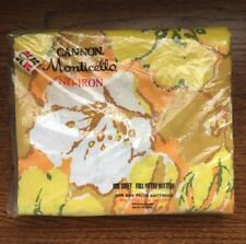Retro Cannon MOD Monticello Orange Yellow Flowers FULL FITTED Sheet Rhapsody