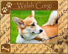 Welsh Corgi Laser Engraved Wood Picture Frame (5 x 7)