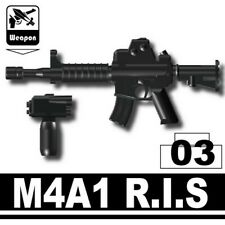 Black M4A1 Assault Rifle for LEGO army military brick minifigures