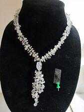 alte kostbare Bergkristall Halskette Collier Einzelstück Erbstück Tibet 1970