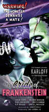 Bride of Frankenstein Movie Poster Classic movie monsters by Scott Jackson