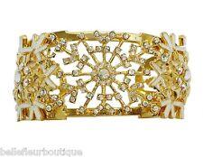 Kirks Folly Polar Express Snowflake Cuff Bracelet *Sparkling Winter Wonderland*