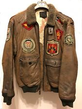 Giubbotto giacca pelle Avirex Top Gun originale vintage flight jacket Taglia L