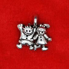 10 x Tibetan Silver Boy Girl Kids School Pupil Charm Pendant Connector Craft