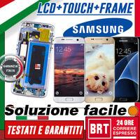 DISPLAY LCD+TOUCH SCREEN SAMSUNG GALAXY S7 SM-G930F G930 VETRO SCHERMO CON FRAME