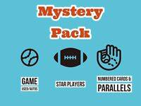 MYSTERY PACKS - 30 CARDS, RELICS, AUTOS, NUMBERED. NFL ,MLB Prizm, Optic, Mosaic
