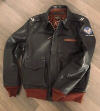A2 Flight Jacket WERBER US Air Force WWII repro in Goatskin Seal Brown Leather