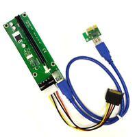 MintCell PCIe Riser Adapter - PCI-E Express 1x to 16x - 4-pin MOLEX - 60cm USB