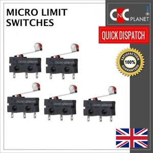 Micro Limit Switch Roller type 250V 5A N/O N/C for V-Slot CNC Router 3D Printer